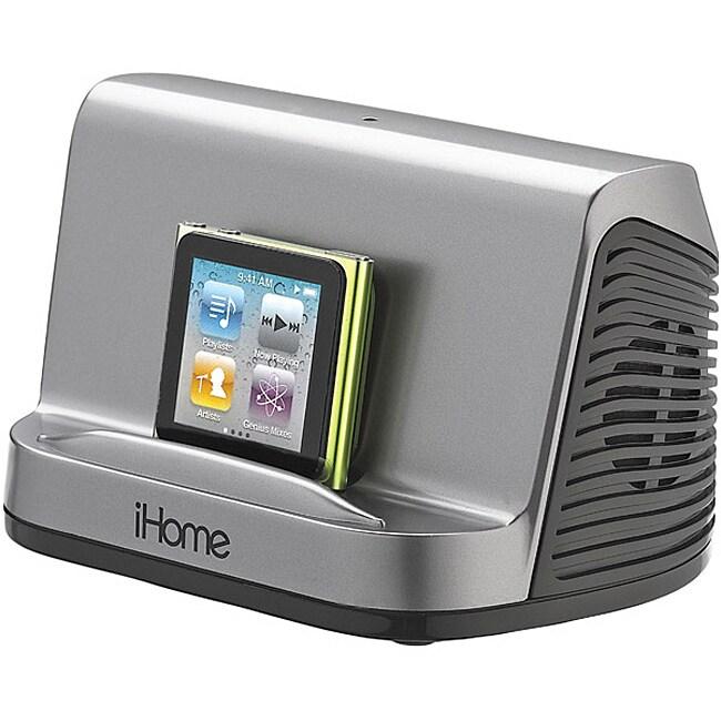 iHome Gunmetal iHM16 Portable MP3 Stereo Speaker