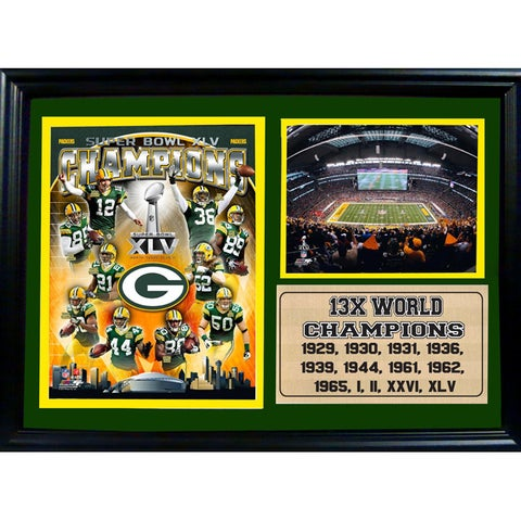 Super Bowl XLV Champion Green Bay Packers Photo Stat Farme