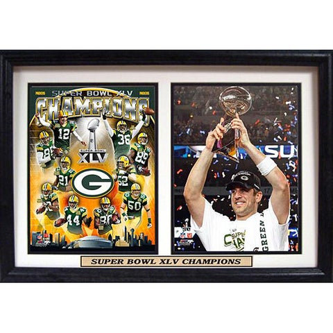 Super Bowl XLV Champion Green Bay Packers Double Frame