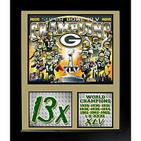 Super Bowl XLV Champion Green Bay Packers Deluxe Stat Frame