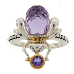 Meredith Leigh Sterling Silver Amethyst 'Critters' Bee Ring
