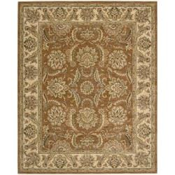 Nourison Antiquities Brick Floral Rug (7'9 x 9'9) - Thumbnail 0
