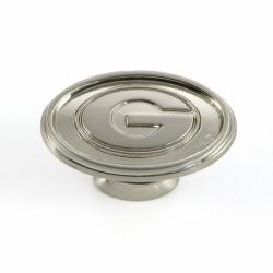 University of Georgia Bulldogs Satin Nickel Cabinet Knobs (Pack of 2)