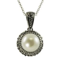 Pearls For You Sterling Silver White FW Pearl Necklace (11.5-12 mm)