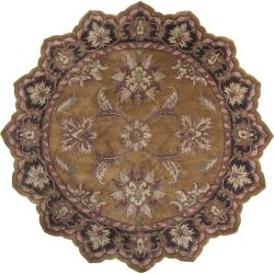 Hand-tufted Ancient Treasures Gold Wool Rug (8' Star)