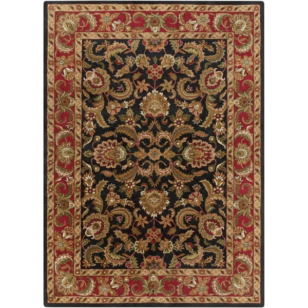 Hand-tufted Grandeur Black Wool Area Rug - 8' X 11'