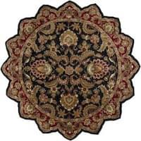 Hand-tufted Grandeur Black Wool Area Rug (8' Star)