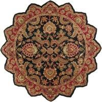 Hand-tufted Grandeur Black Wool Area Rug - 8' x 8'