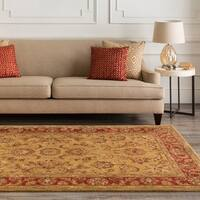 "Hand-tufted Grandeur Gold Wool Area Rug - 2'6"" x 8'"