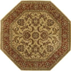 Hand-tufted Grandeur Gold Wool Rug (8' Octagon)