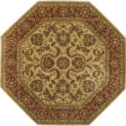 Hand-tufted Grandeur Gold Wool Area Rug (8' Octagon)