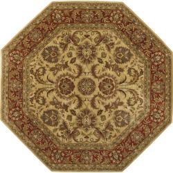 Hand-tufted Grandeur Gold Wool Area Rug - 8' x 8'