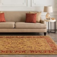 Hand-tufted Grandeur Gold Wool Area Rug - 8' x 8'
