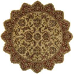 Hand-tufted Grandeur Gold Wool Rug (8' Star)