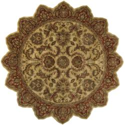 Hand-tufted Grandeur Gold Wool Area Rug (8' Star)