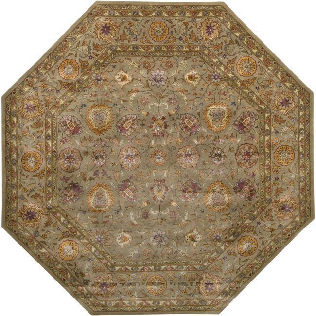 Hand-tufted Grandeur Tan Wool Rug (8' Octagon)