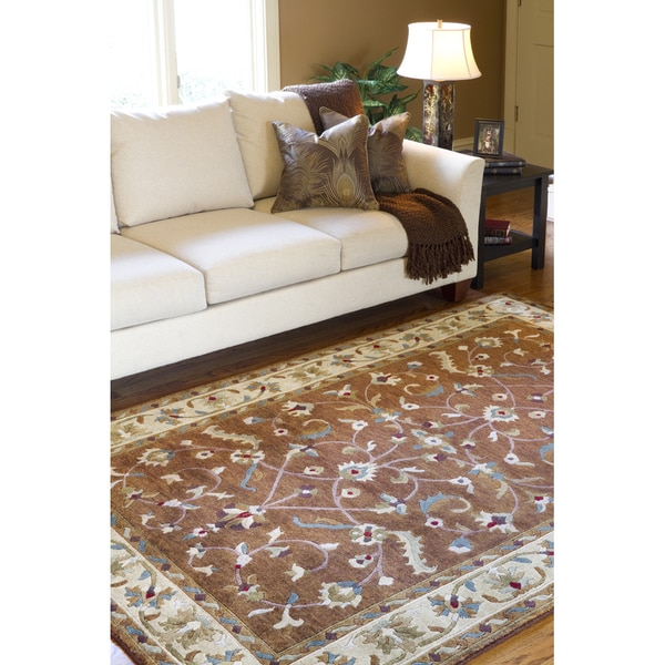 Hand-knotted Anastacia Wool Area Rug (5' x 8')