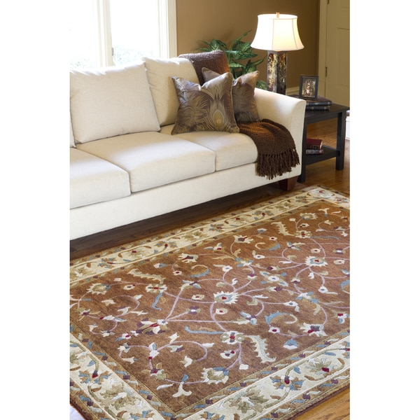 Hand-knotted Anastacia Wool Area Rug - 8' x 11'