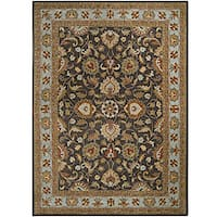 Hand-tufted Coliseum Charcoal Wool Area Rug (10' x 14')