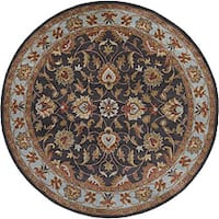 Hand-tufted Coliseum Charcoal Wool Area Rug (9'9 Round)