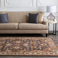 Hand-tufted Coliseum Charcoal Wool Area Rug - 9'9 x 9'9