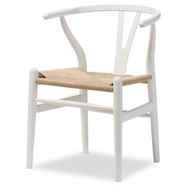 Baxton Studio Wishbone Modern White Wood Dining Chair With