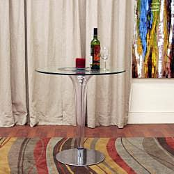 Simi Modern Glass Bistro Table - Thumbnail 1