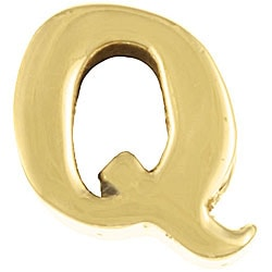 Sterling Essentials 14k Gold over Silver 'Q' Alphabet Bead