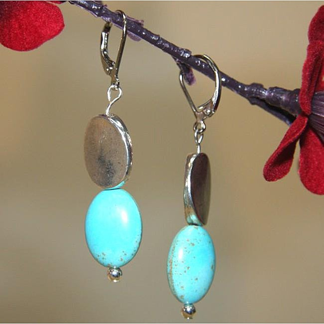 Susen Foster Silverplated Turquoise 'Turquoise Dreams' Earrings
