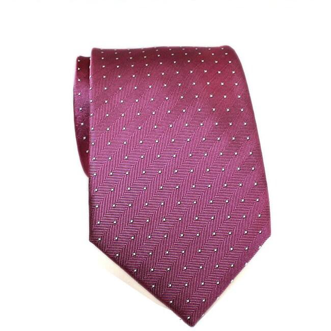 H. Luzzario & Co. Men's Silk Fuchsia DotTie