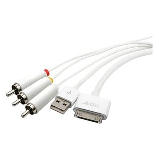 Accell L123B-006J Composite A/V with USB Sync/Charge Cable Adapter