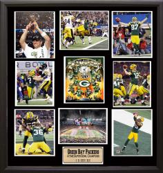 Super Bowl XLV Champion Green Bay Packers 9-photo Plaque