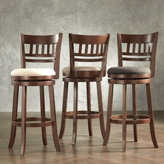 Link to Verona Swivel 29-inch High Back Bar Stool by iNSPIRE Q Classic Similar Items in Dining Room & Bar Furniture