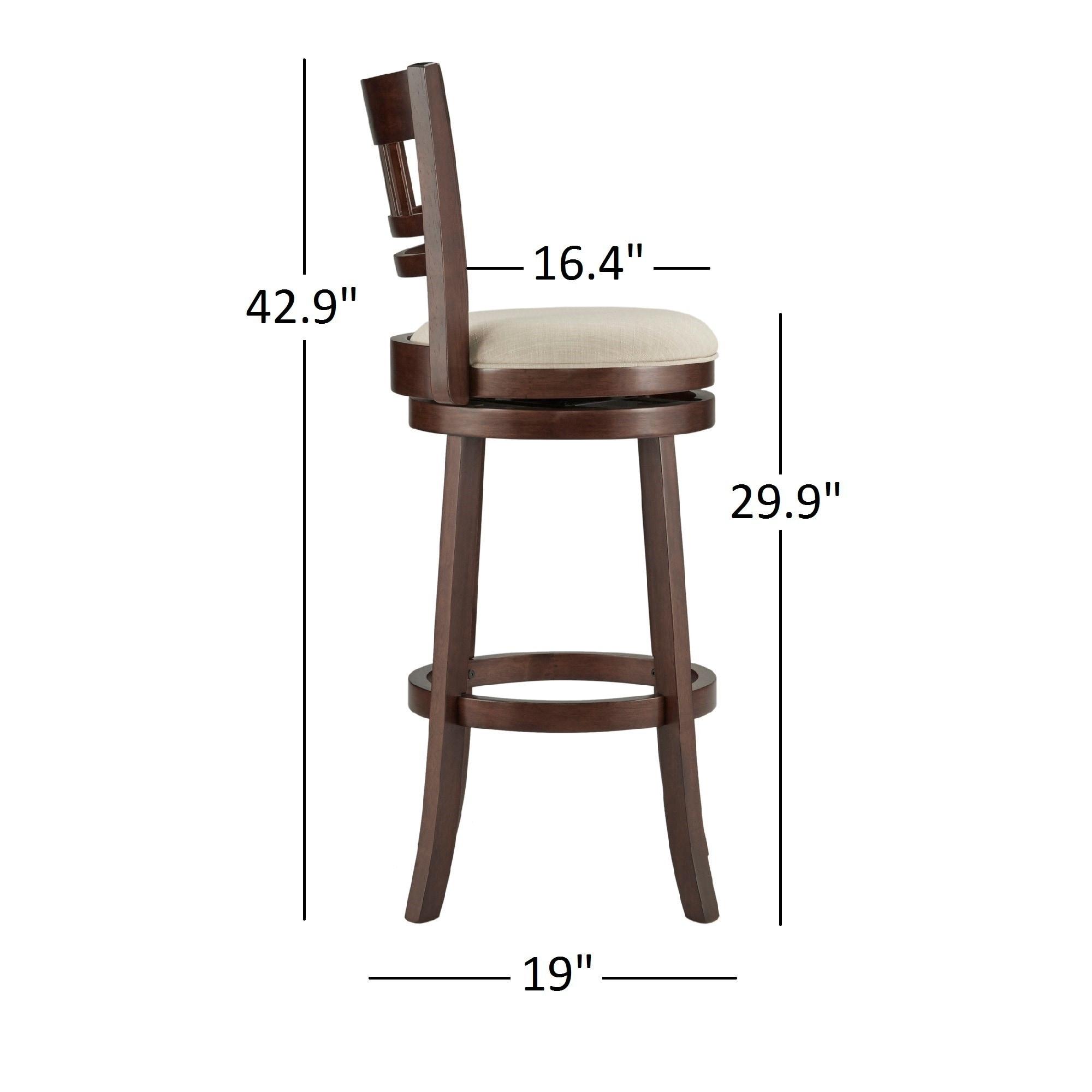 Wondrous Verona Swivel 29 Inch High Back Bar Stool By Inspire Q Classic Dailytribune Chair Design For Home Dailytribuneorg