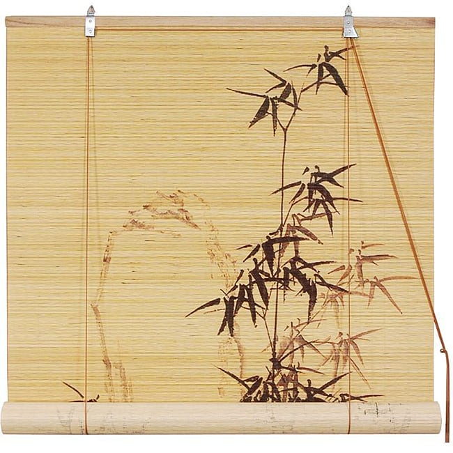 Handmade Black Bamboo Window Blinds (72 in. x 72 in.) (China)
