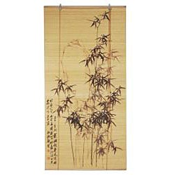 Handmade Black Bamboo Window Blinds (72 in. x 72 in.) (China) - Thumbnail 2