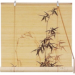 Black Bamboo Window Blinds (72 in. x 72 in.) (China)