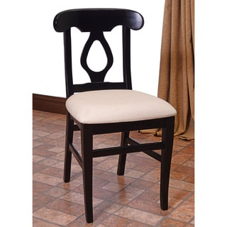 Napolian Cream Faux Leather Side Chairs (Set of 2)