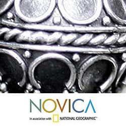 Sterling Silver 'Exotic Globe' Dangle Earrings (Indonesia) - Thumbnail 2