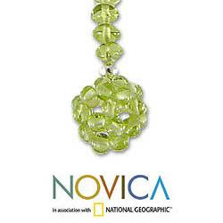 Handmade Sterling Silver 'Refreshed Soul' Peridot Necklace (Thailand) - Thumbnail 2