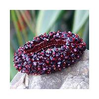Handmade 'Glamour' Garnet Stretch Bracelet (Thailand)