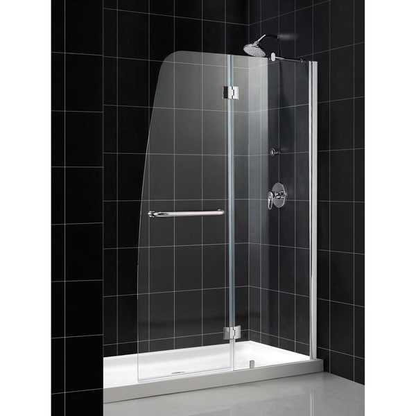 shop dreamline aqua 48x72 inch frameless hinged shower door free