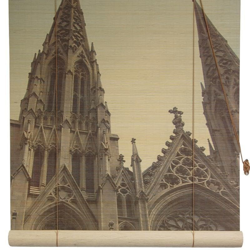 Handmade Bamboo 'St. Patrick's Cathedral' Window Blinds (72 in. x 72 in.) (China)
