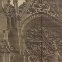 Handmade Bamboo 'St. Patrick's Cathedral' Window Blinds (72 in. x 72 in.) (China) - Thumbnail 1