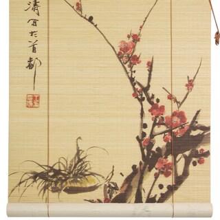 Handmade Bamboo 'Sakura Blossom' Window Blinds (72 in. x 72 in.) (China)
