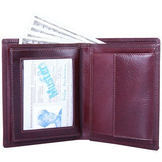 Leatherbay Men's Brown Leather Bi-fold Wallet