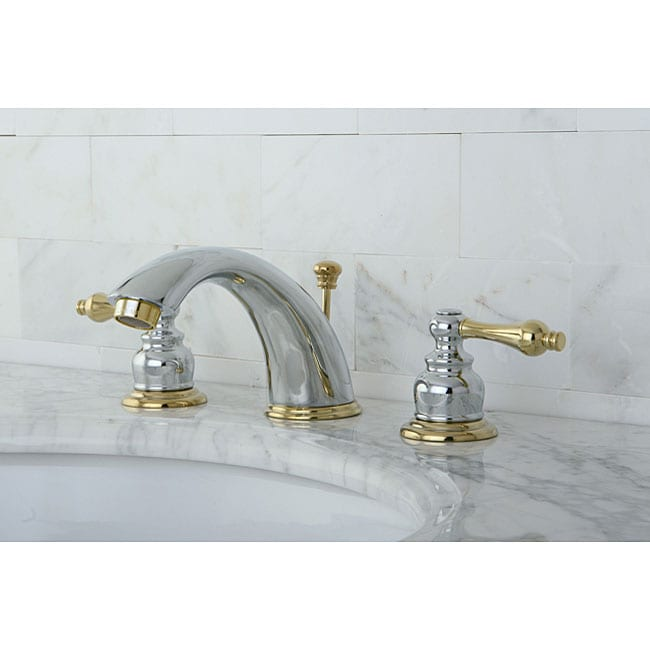 Shop Victorian Chrome Polished Brass Widespread Bathroom