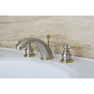 Victorian Satin Nickel/ Polished Brass Widespread Bathroom Faucet