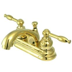 Superbe Knight Polished Brass Centerset Bathroom Faucet