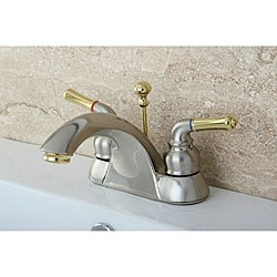 Bathroom Faucets naples satin nickel/ polished brass bathroom faucet - free